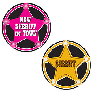 Sheriff Flashing Buttons- 2ct