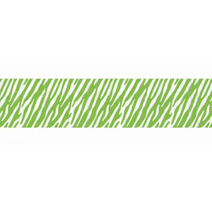 Green Zebra Stripe Crepe Paper - 81ft