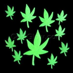Glow Stickers - Marijuana Leaves