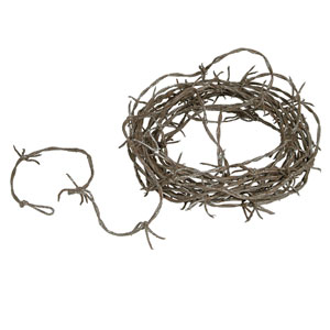 Plastic Rusty Barbed Wire Garland- 12ft