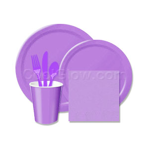 Royal Purple Tableware Pack