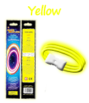 Glow Retail Packaged Triple Wide Bracelet - Yellow