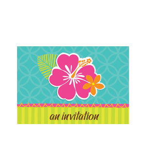 Hibiscus Splash Invitations- 50ct