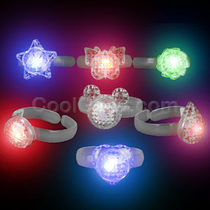 LED Flashing Bracelets - Clear
