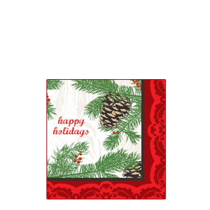 Winter Holidays Beverage Napkins