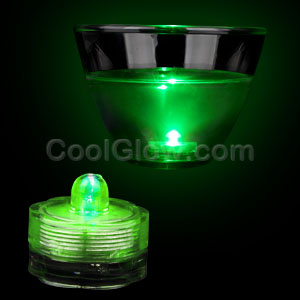 Fun Central AI327 LED Light Up Submersible Waterproof Deco Light - Green