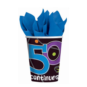 The Party Continues - 50 9 oz. Cups- 8ct