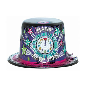 Light Up New Years Top Hat- 5 Inch