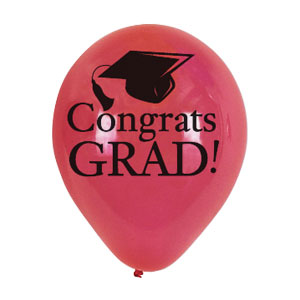 Red Grad Latex Balloon