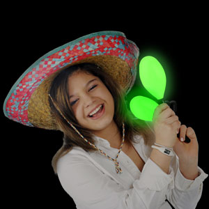 LED Maraca Supreme - Green 7 Inch