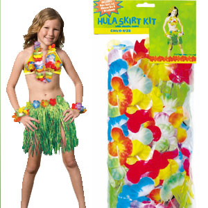 Child Hula Skirt Kit - Green