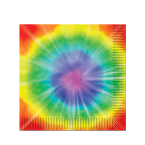 Tie Dyed Beverage Napkin - 16ct
