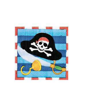 Pirate's Treasure Beverage Napkins- 16ct
