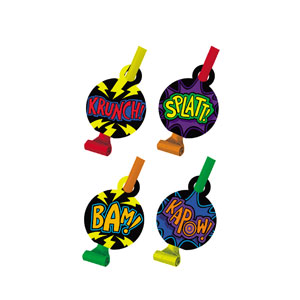 Superhero Fun Blowouts - 8ct