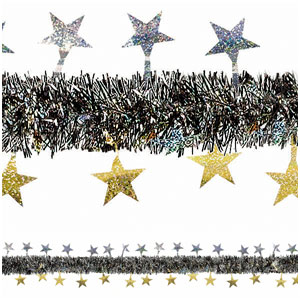 Prismatic Tinsel Garland - 15ft