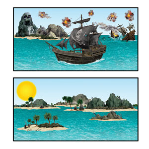 Pirate Ship and Island Props- 14pc