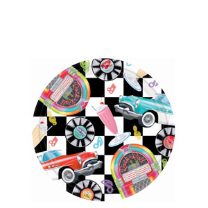 Sock Hop 7 Inch Plates- 8ct