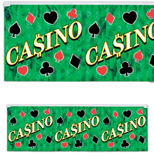 Metallic Casino Fringe Banner- 4ft