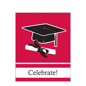 Graduation Invitation - Red