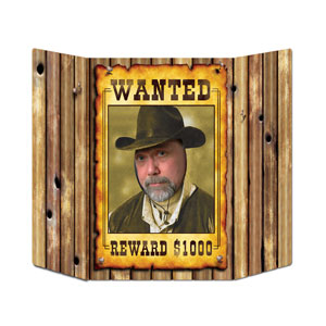 Wanted Poster Photo Prop- 37in