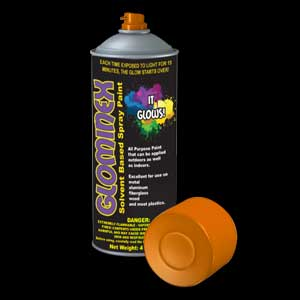 Glominex Glow Spray Paint 4oz - Orange