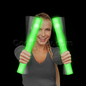LED Foam Stick Baton Supreme - Green