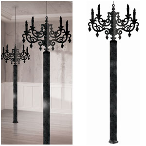 Hanging 3-D 6 Foot Candelabra- 2ct