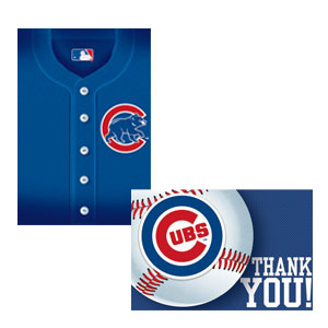 Chicago Cubs Invitations and Thank You Cards Set- 16ct