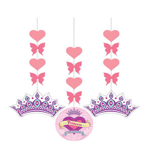 Her Highness Dangling Glitter Cutouts- 3ct
