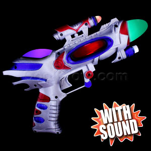 LED Spinning Spaceman Gun
