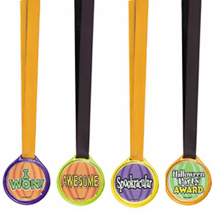 Halloween Assorted Medals- 12ct