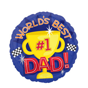 World's Best Dad Balloon- 18in