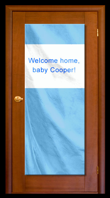 Baby Blue - Custom Door Banner