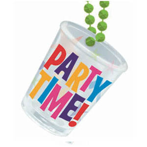Party Time Shot Glass Necklace- 20 Inch
