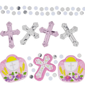 Communion Pink Value Pack Confetti