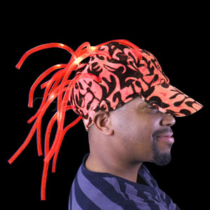 LED Noodle Flame Cap - Red