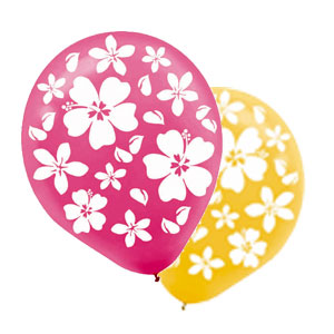 Hibiscus Latex Balloons- 15ct