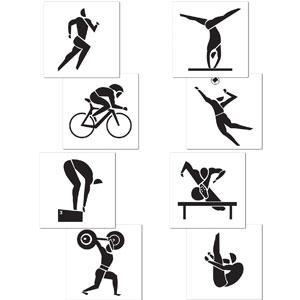 Summer Sports Cutouts- 4ct
