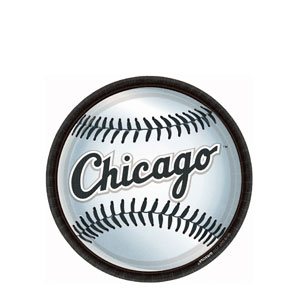 Chicago White Sox 9 Inch Plates- 18ct