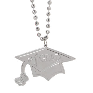 Silver Graduation Bead Necklace