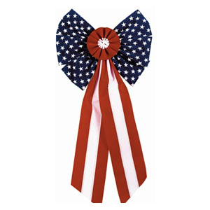 Fabric Flag Bow - 28in