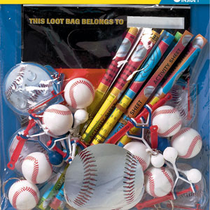Championship Baseball Favor Pack- 48pc