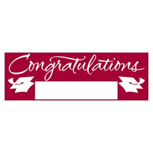 Grad Fill In Banner - Maroon