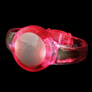 LED Sound Activated Circle Bracelet - Red