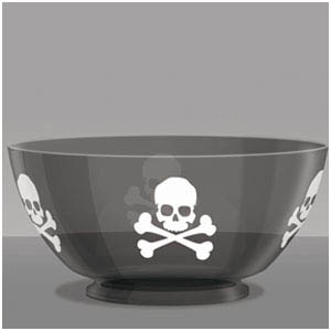 Skull and Bones Punch Bowl- 14in