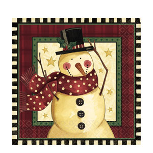 Cozy Snowman Dinner Napkins