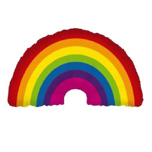 Rainbow Mylar Balloon