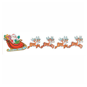 Santa and Sleigh Cutouts - 5ct