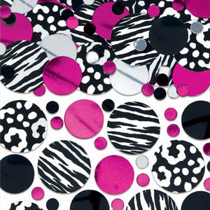 Zebra Party Confetti