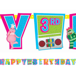 Yo Gabba Gabba Add-An-Age Letter Banner- 10ft